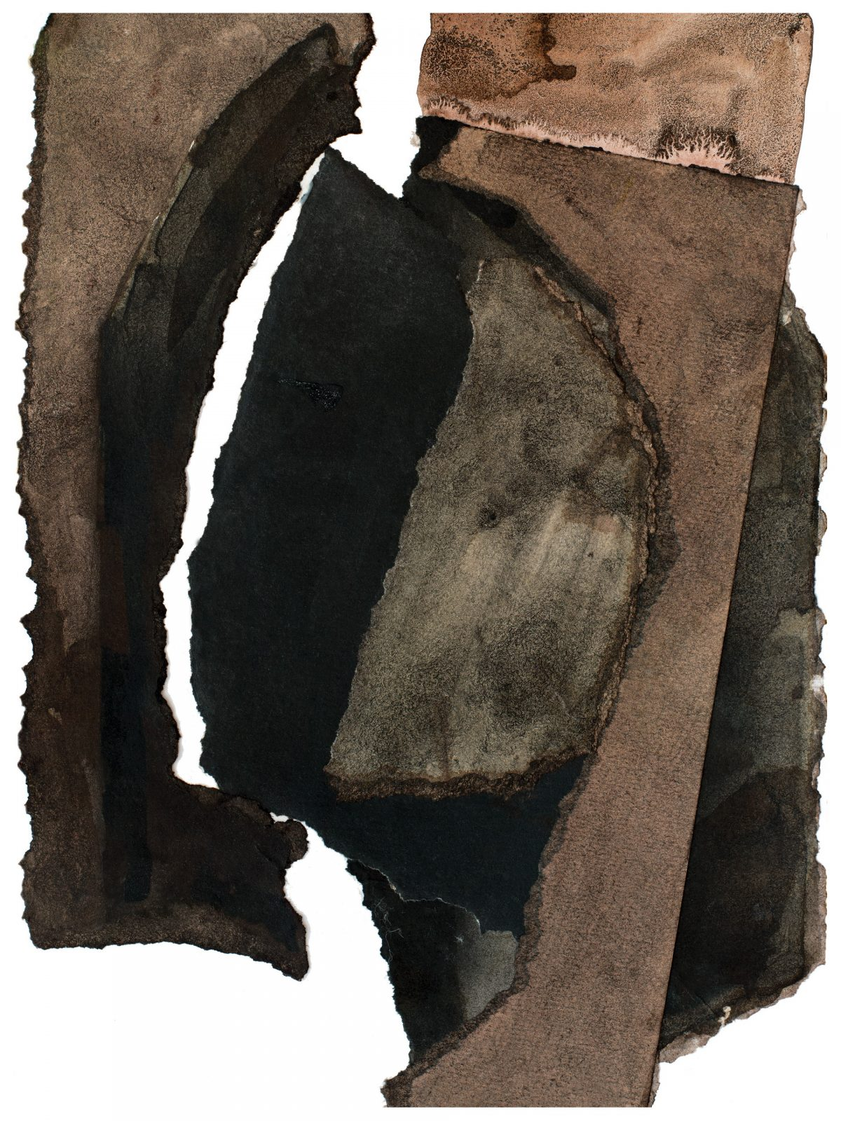A portrait collage in brown and black