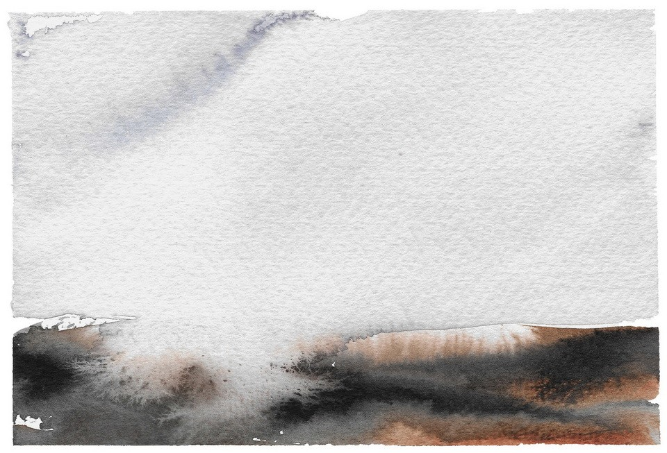 Abstract artwork in neutral colours watercolour landscape