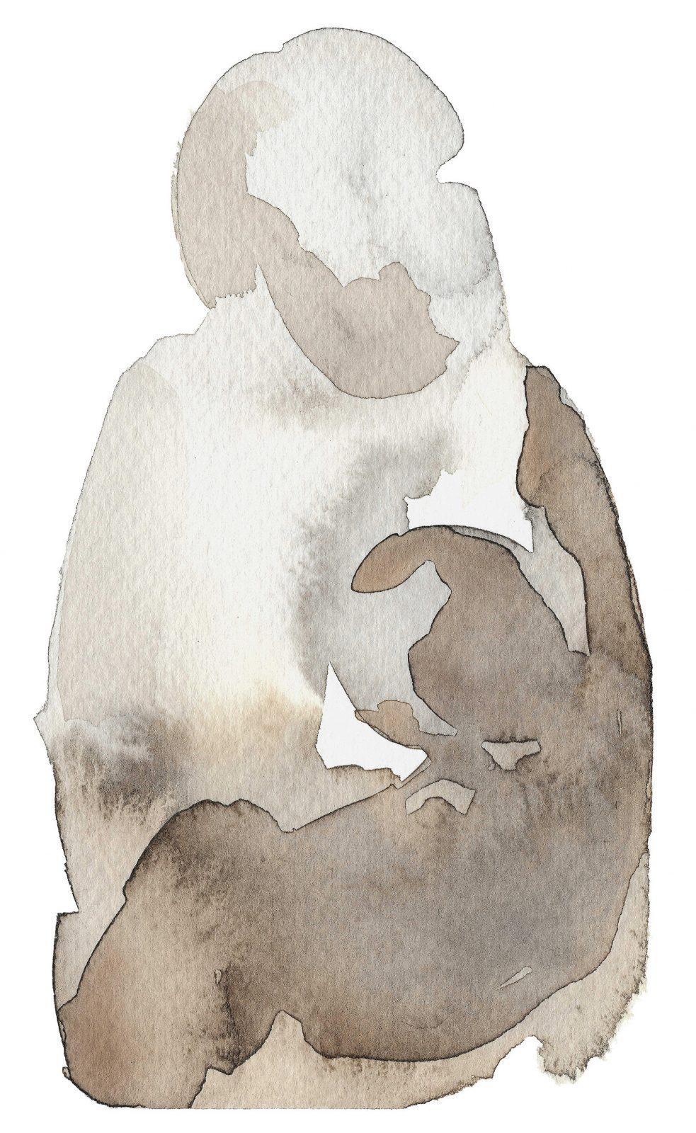 Commission breastfeeding art birth art family composition